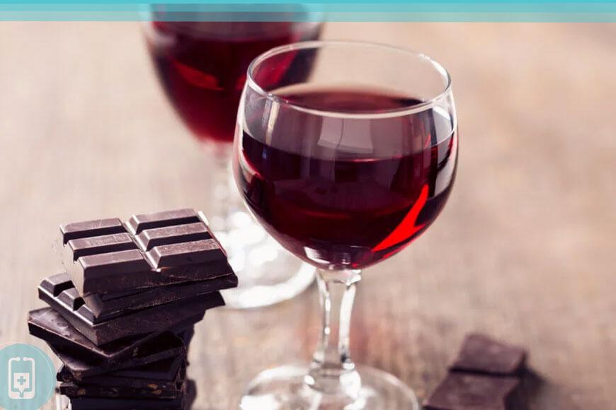 Epigalocatequina-galato - Chocolate e Vinho Tinto