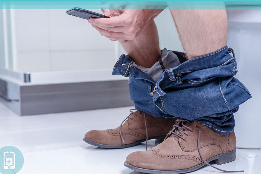 Hemorroidas inflamadas - Evite ficar muito tempo no banheiro