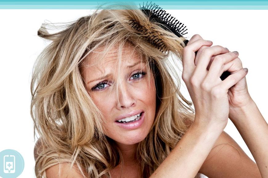 Deficiência de ômega-3 - Olhos e cabelo secos