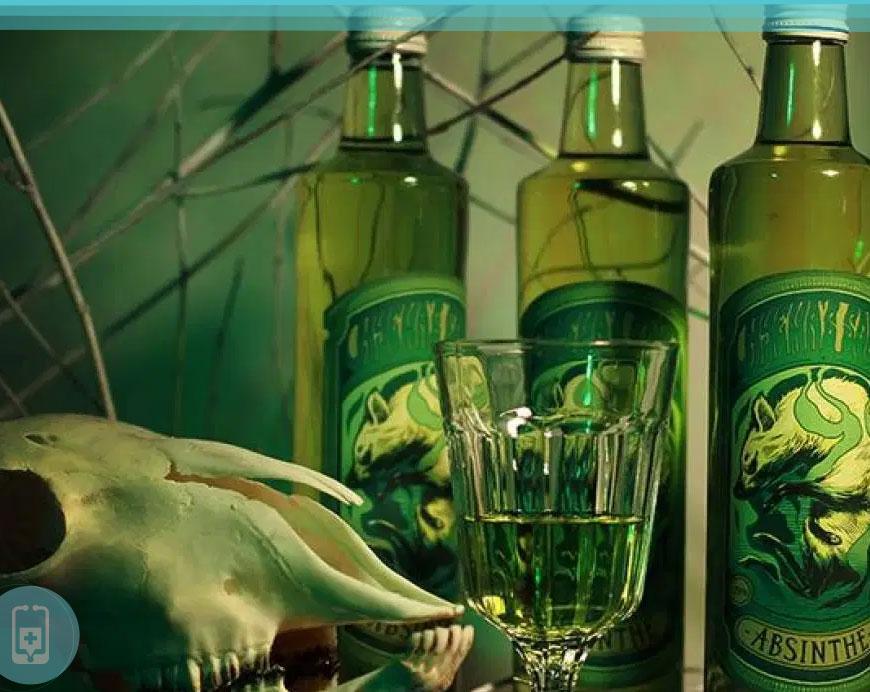 Bebida Absinto - Feita a partir da fermentação e destilação de Artemísia, Anis e Erva doce